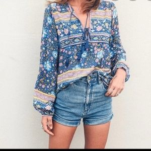 Folktown blouse navy Small